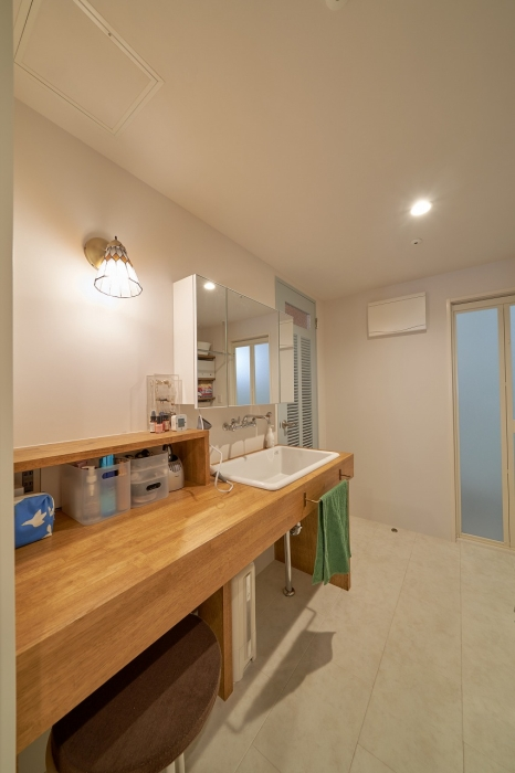 リノベーション後の洗面スペース