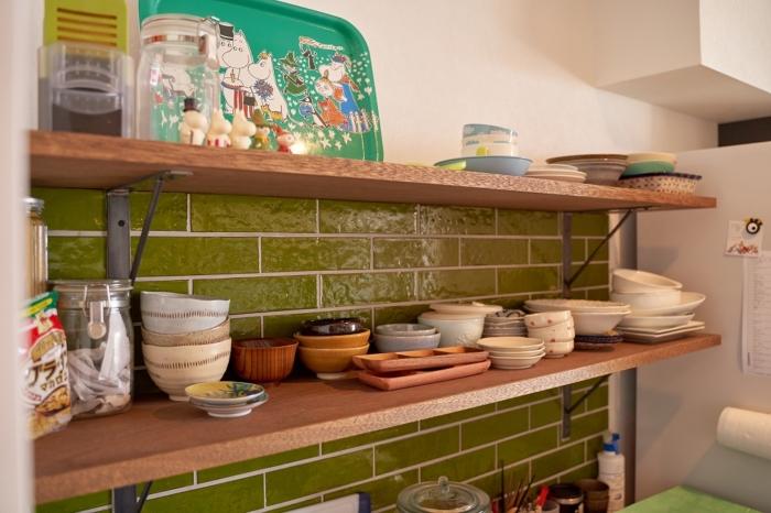 北欧の感じるキッチンタイル