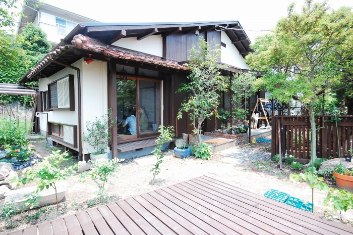 兵庫県西宮市の戸建てリノベーション事例、外観