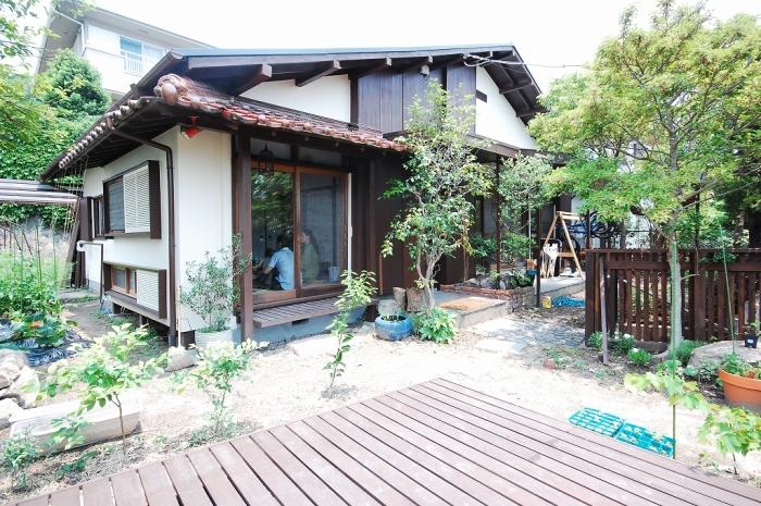 兵庫県西宮市の戸建てリノベーション事例、外観2