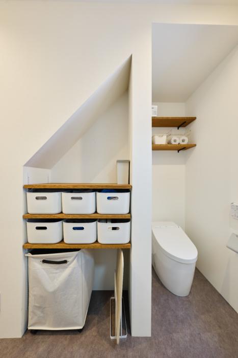 アイデア満載の洗面スペース
